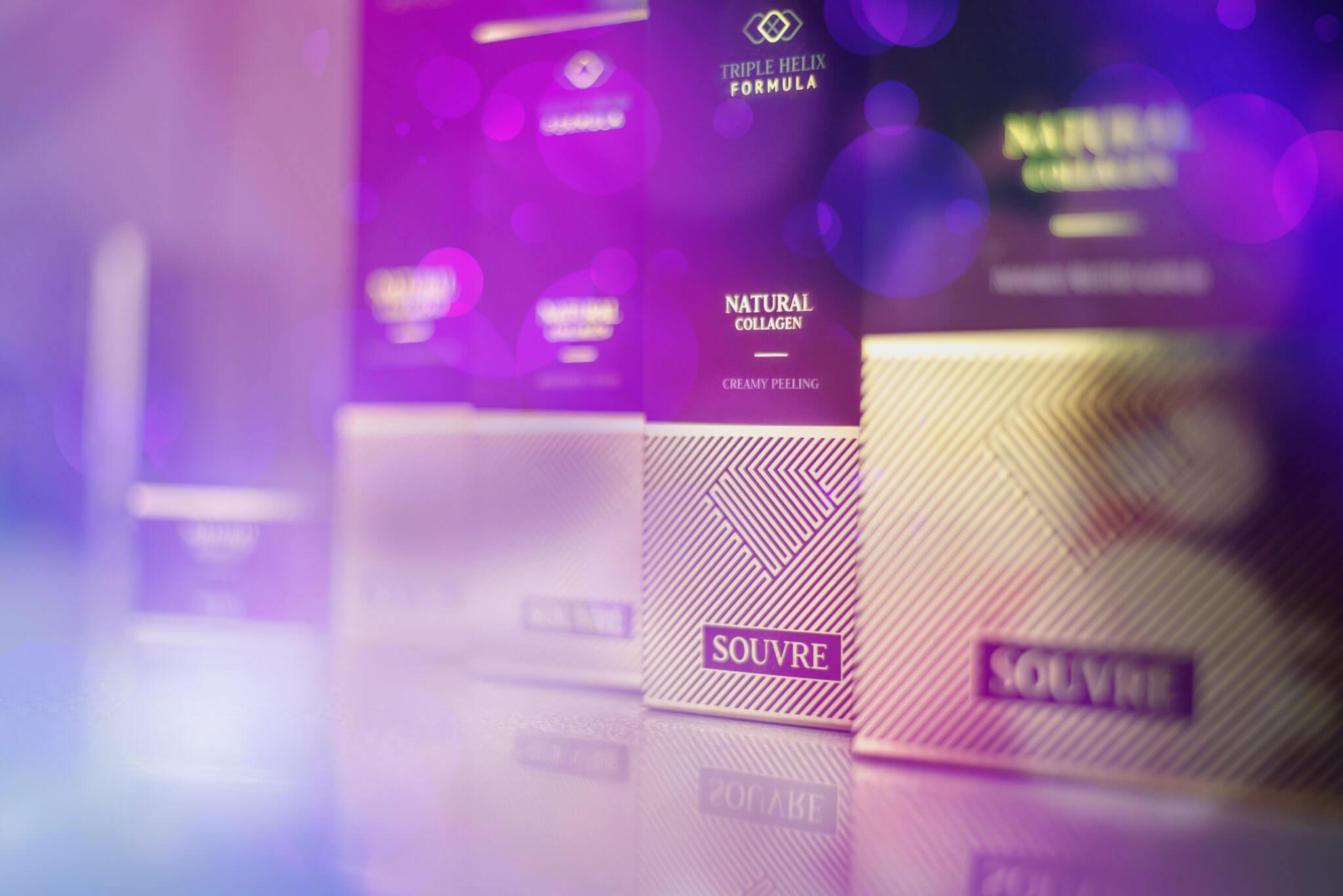 Zabieg kosmetyczny z wykorzystaniem kolagenu i złotej maski Polskiej marki Souvre